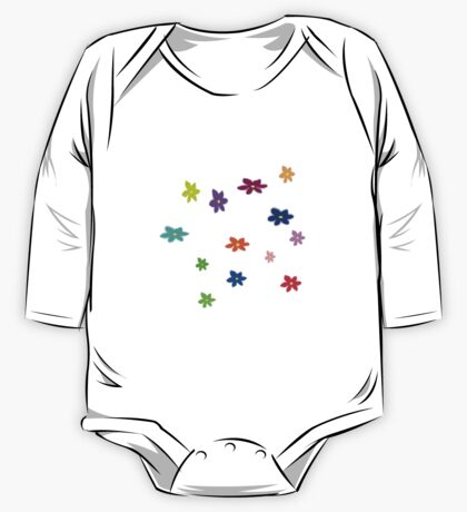Twelve plus one cheerful flowers transparent background One Piece - Long Sleeve