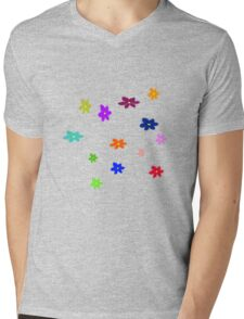 Twelve plus one cheerful flowers transparent background Mens V-Neck T-Shirt