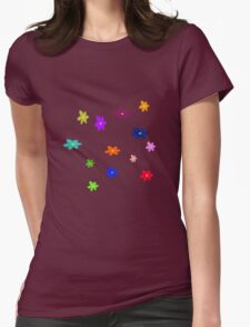 Twelve plus one cheerful flowers transparent background Womens Fitted T-Shirt