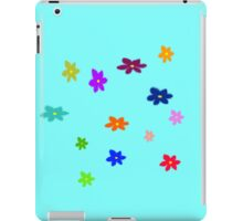 Twelve plus one cheerful flowers transparent background iPad Case/Skin