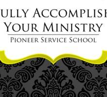PSS: Pioneer Service School (Elegant Black) Sticker