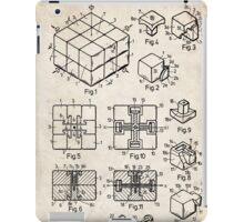 Rubik's Cube Toy Puzzle 1983 US Patent Art iPad Case/Skin