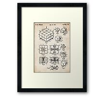Rubik's Cube Toy Puzzle 1983 US Patent Art Framed Print