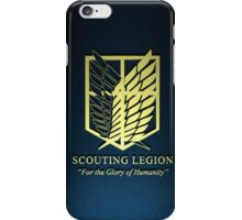 Attack on Titan Scouting Legion 3D iPhone Case/Skin