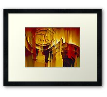 Stepping Through Time Abstract Surreal Art Framed Print