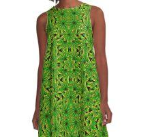 Geometric African Print A-Line Dress