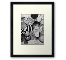 Bubble Drop Pattern Framed Print