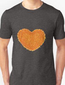 Heart from red caviar. Unisex T-Shirt