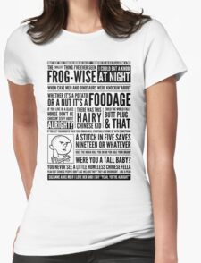 Bald Mank Womens Fitted T-Shirt