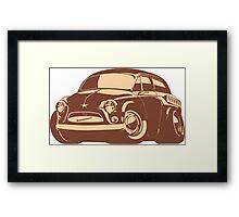 cartoon retro car Framed Print