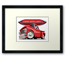 Cartoon retro pickup Framed Print