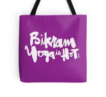 Bikram Yoga is Hot : Purple Tote Bag