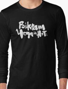 Bikram Yoga is Hot : Purple Long Sleeve T-Shirt
