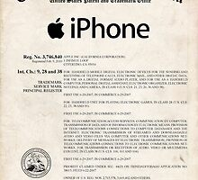 Apple iPhone Certificate US Patent Art Steve Jobs by geekuniverse