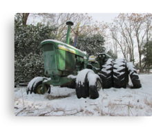 A Deere In The Snow Canvas Print