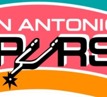 SAN ANTONIO SPURS BASKETBALL RETRO Sticker