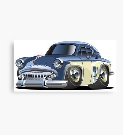 Cartoon retro car Canvas Print