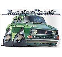 Cartoon retro car Poster