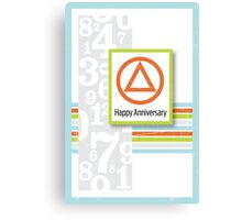 AA Anniversary Card Canvas Print