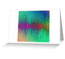 abstract wave Greeting Card