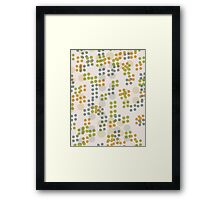 Pattern 018  Retro Dots, Green, Yellow, And Blue  Framed Print