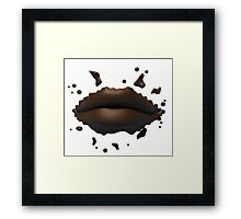 Chocolate lips Framed Print