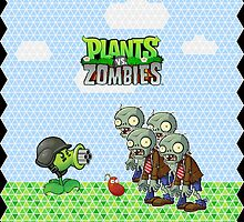 Peashooter vs. Zombies by mariposaEM