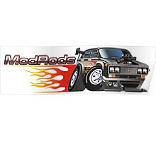 Cartoon Hot Rod Poster