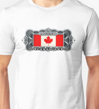 Proud To Be Canadian Unisex T-Shirt