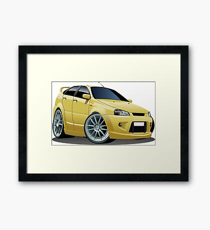 Cartoon Car Framed Print