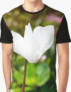 White Flower Graphic T-Shirt