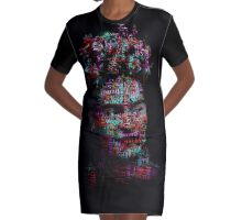 Frida Kahlo - Word Cloud Graphic T-Shirt Dress