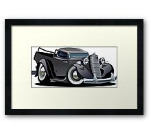 Cartoon retro pickup Framed Print