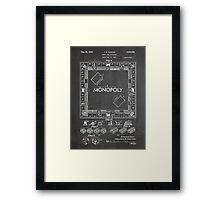 Monopoly Board Game US Patent Art 1935 Blackboard Framed Print