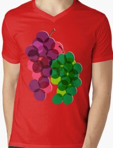 Retro Grapes Mens V-Neck T-Shirt