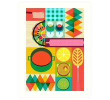 Wondercook Food Kitchen Pattern Art Print