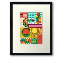 Wondercook Food Kitchen Pattern Framed Print
