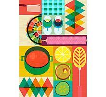 Wondercook Food Kitchen Pattern Photographic Print