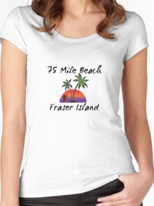 75 mile beach Fraser Island Australia Women's Fitted Scoop T-Shirt
