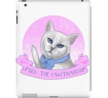 Fuck the Pawtriarchy iPad Case/Skin