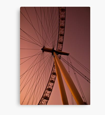 Evening by the London eye Canvas Print