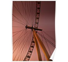 Evening by the London eye Poster