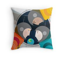 Astronauts in Space Throw Pillow