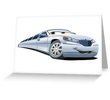 Cartoon Limo Greeting Card