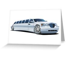 Cartoon limousine Greeting Card