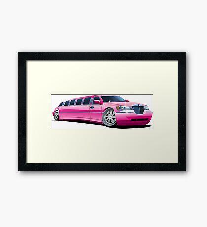 Cartoon limousine Framed Print