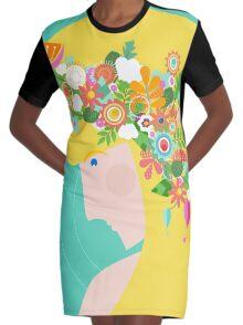 Flower Girl Graphic T-Shirt Dress