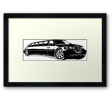 Cartoon limousine Framed Print