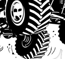Cartoon monster truck Sticker