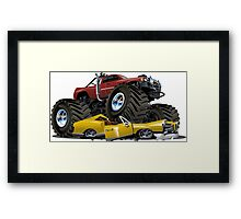 Cartoon monster truck Framed Print